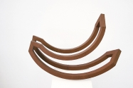 """hin und her, II"", 2008 <br /> Corten steel, 56 cm x 90 cm x 44 cm, (limited edition 7+1) <br /> Collection Hurrle, Durbach"